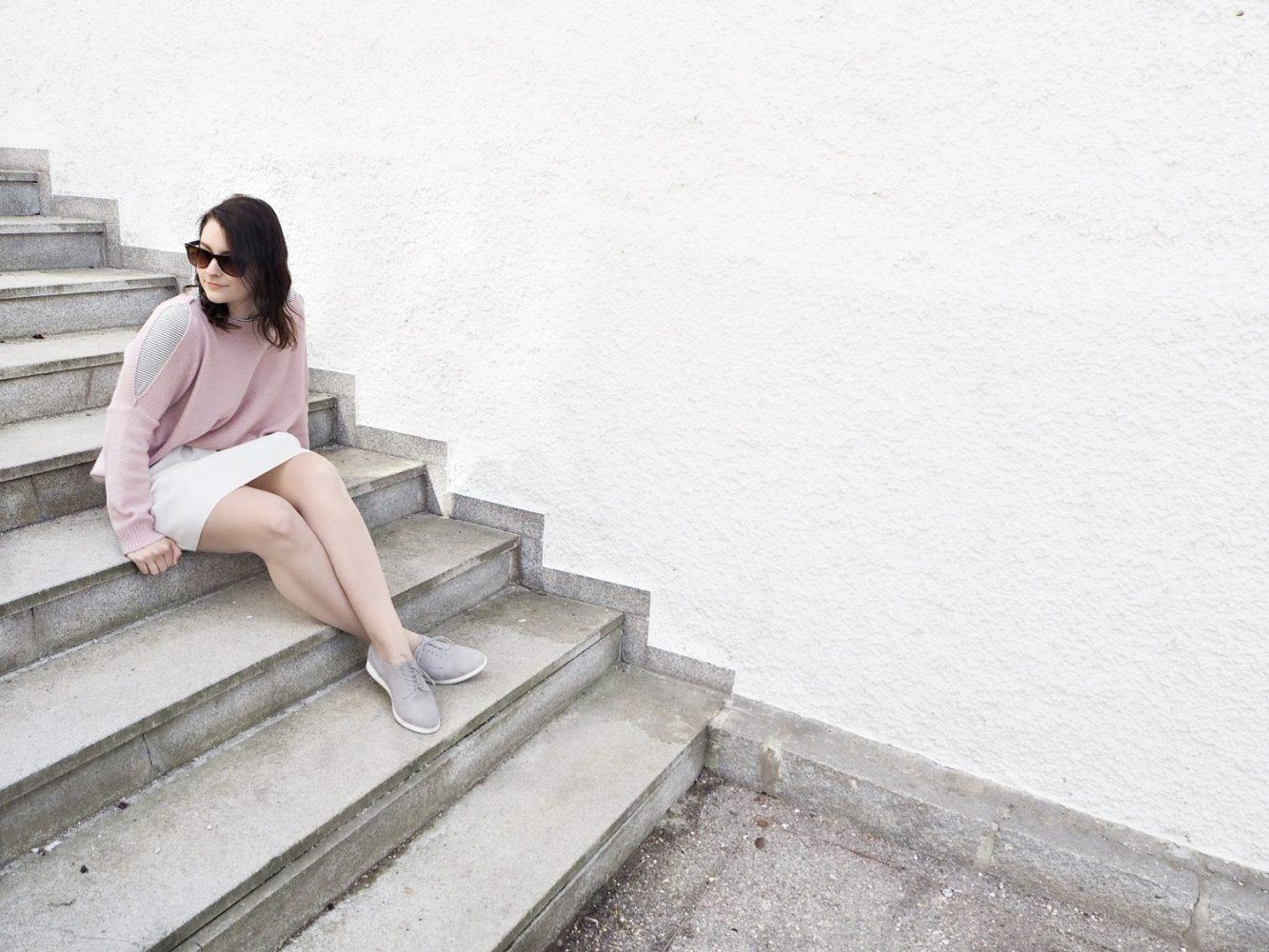 7 Styles with Stripes | Streifen-Shirt und rosa Pullover